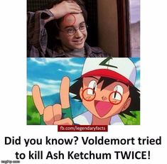 Image tagged in harry,potter,ash,ketchum