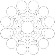 Free Printable Mandala Design Coloring Pages - Bing ResimlerMandala of circles - 15 degree rotational symmetryCircles - use to countdown days for school breaks? Mandala Art, Mandala Design, Mandala Drawing, Mandala Painting, Mandala Pattern, Doodle Patterns, Zentangle Patterns, Zentangles, Dot Art Painting
