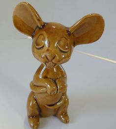 "Mouse, Little Brown Mouse by Tildonware Canada 3-3/4"" high Very Unique"
