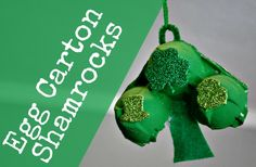 Egg Carton Shamrocks