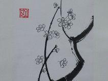 Sumi-e Tuschebild Kirschblüten und Bienchen II II Japan, Etsy, Character, Home Decor, Art, Ink Paintings, Ink Drawings, Bees, Art Background