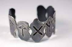 bloodmilk jewelry | what we will be' runic divination cuff .