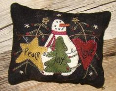 Peace, Love & Joy Pincushion    Primitive Gatherings Quilt Shop--I have this kit..need to make it