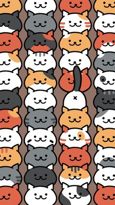 Neko Atsume Pattern. Tap to see more Neko Atsume the cat wallpapers, backgrounds, fondos for iPhone, & Android! - @mobile9