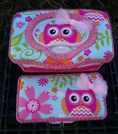 Chevron Owl custom baby wipe case set for diaper bag and nursery. by SelenasLaLaLand on Etsy https://www.etsy.com/listing/216506285/chevron-owl-custom-baby-wipe-case-set