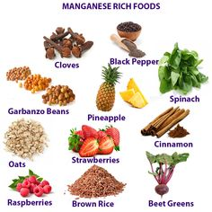 MANGANESE MINERAL HEALTH BENEFITS, DEFICIENCY AND RICH FOODS