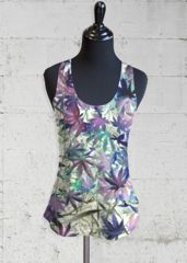 Inverted Autumn Leaves Racerback Top by Yolanda Caporn.  Perfect for those warm summer days.