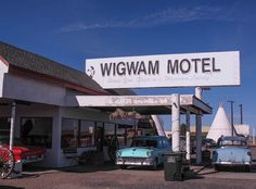 "44. In the arid Arizona desert, the Wigwam Village Motel in Holbrook still provides Route 66 aficionados the opportunity to ""Sleep in a Wigwam!""  The motel was successfully operated until Interstate 40 bypassed the downtown in the late-1970s.  The motel reopened in 1988 with part of the main office  a museum.  Fifteen concrete and steel 21 ft wide by 28 ft high freestanding wigwams are arranged in a semi-circle."
