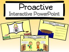Be Proactive Interactive PowerPoint and Worksheet. Goes along perfectly with Habit 1 of Stephen Covey's 7 Habits of Happy Kids. Great for Leader in Me Schools.