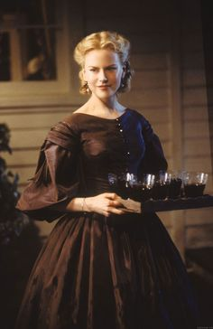 Actress Nicole Kidman wearing an authentic dress in the 2003 film 'Cold Mountain'