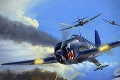 Hellcat vs Zero -The Ultimate Dogfight Ultimate Dogfight in the Pacific The utimate showdown in the Pacific during World War II was the Hellcat vs Zero Ww2 Aircraft, Fighter Aircraft, Military Aircraft, Air Fighter, Fighter Jets, Grumman F6f Hellcat, Airplane Art, Nose Art, Aviation Art