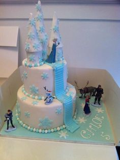 Simple frozen birthday cake