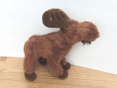 "Gund MORIE Moose Plush Stuffed Animal 12016 Posable Legs 12"" Winter Christmas  #Gund"