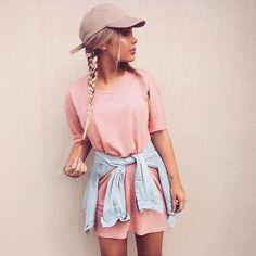 | Pink Dress | Ballcap | Braids |