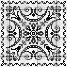 Square 30 | Free chart for cross-stitch, filet crochet | Chart for pattern - Gráfico
