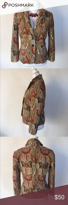 DKNY Paisley Corduroy Blazer, 8 This gorgeous DKNY Paisley Corduroy Blazer, 8  is great for the office or an educational setting! EXCELLENT CONDITION NO DEFECTS Dkny Jackets & Coats Blazers