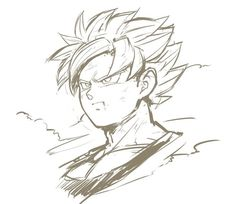 Goku SSJ Black&White