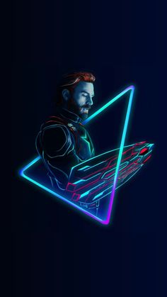 Chris ❤️ Evans Art (Credit to owner) Captain-America-Neon-Avengers-infinity-War-iPhone-Wallpaper - iPhone Wallpapers Marvel Dc Comics, Marvel Heroes, Marvel Characters, Marvel Movies, Crane Rouge, The Wolf Among Us, Captain America Wallpaper, Die Rächer, The Avengers