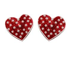 Red Pearl Polka Dot Burlesque Pasties