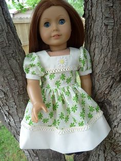 """18"""" Doll clothes 1940's Dirndl Dress For Summer / Spring Fits American Girl Molly, Emily, Kit"""
