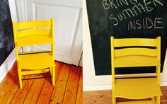 The summer feels like it's never coming and it's left me feeling, somewhat, blah! After all, the shops are filled with this season's yellow but the weather just doesn't present… Tripp Trapp Chair, Diy Crafts For Adults, Diy Shops, Mac, Chair Makeover, Diy Network, Diy Flooring, Home Organization, Organizing