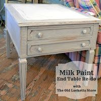 The Old Lucketts Store Blog: Milk Paint End Table Tutorial