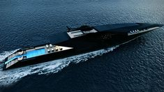 Striking mega yacht BLACK SWAN concept by Timur Bozca. Measuring impressive 70 meters in length over all, mega yacht Black Swan concept has been beautifully designed by the young Turkish yacht &. Yacht Design, Boat Design, Deck Design, Super Yachts, Power Boats, Speed Boats, Swan Yachts, The Black Swan, Ski Nautique