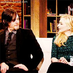 Norman Reedus and Emily Kinney on Talking Dead
