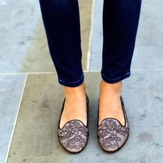 Lace & Leather Loafers by Valentino