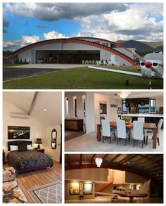 Hangar living on pinterest airplane homes for sales and for Hangar home designs