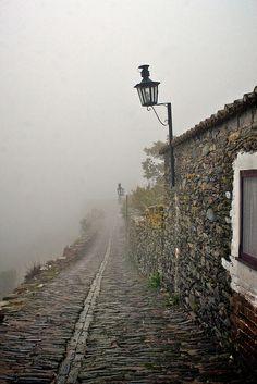 Misty Monsaraz parish, in Portugal [a flickr set link]. More info: http://en.wikipedia.org/wiki/Monsaraz_%28parish%29