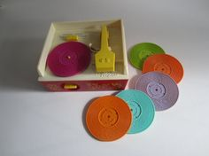Fisher Price Wind Up Music Record Player 1971 by ElementreeStudio, $75.00