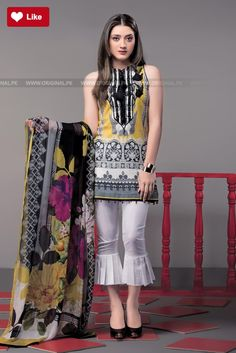 This season, Ethnic by Outfitters Festive Collection 2018 flutters between traditional fantasy and classicism. You will be maharani in your own when you will go to attend any Eid party wearing any number from this summer lawn collection. Pakistani Fashion Casual, Pakistani Dresses Casual, Indian Fashion Dresses, Pakistani Dress Design, Indian Designer Outfits, Designer Dresses, Stylish Dresses For Girls, Stylish Dress Designs, Simple Dresses