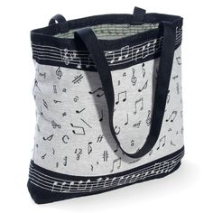 Classic Music Notes Tapestry Tote at The Music Stand