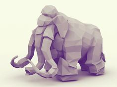 Low-Poly [Non-Isometric] Elephant by Timothy J. Reynolds
