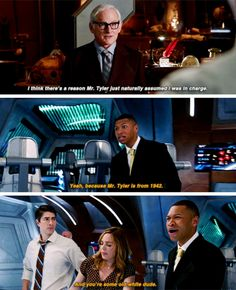 """-Let me guess, you're volunteering? -With all due respect, Raymond..."" #LegendsofTomorrow #Season2 #2x02"