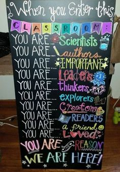 colorful classroom decor, DIY sign