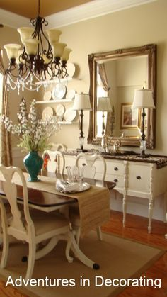 pretty..love plates on the wall..the sideboard is awesome..