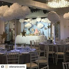 #Repost @ellenarievents with @repostapp ・・・ Friends and Family Welcomed Baby Niko & Ella under Twinkling Stars. Event styling and Centerpieces by  @ellenarievents @vertigoeventvenue @chocolate_favors_pops  @deluxebakery @anougesweetdesigns @flouredupbaking #clouds #itsagirl #itsagirl #itsaboy #babyshower #welcomebaby #mom #firsttimemom #boy #themed #clouds #stars #event #instalike #picoftheday #decor #baby #love #beautiful
