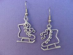 ice skate earrings