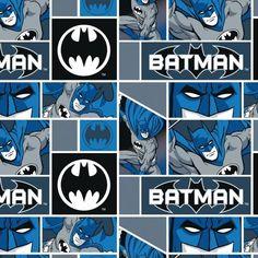 Batman Blocks Fleece Fabric By David Textiles By The Yard & Garden Batman Free, Textiles, Rainbow Swirl, Vintage Paris, Home Decor Fabric, Outdoor Fabric, Leather Fabric, Square Quilt, Fleece Fabric