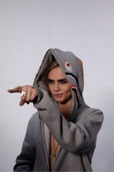 Cara Delevingne wearing Bape lol that's funny