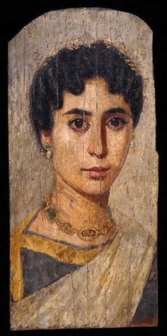 Woman from er-Rubayat. Fayum. c.161-192 AD.British Museum✖️More Pins Like This One At FOSTERGINGER @ Pinterest✖️