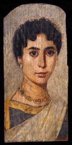 Woman from er-Rubayat. Fayum.  c.161-192 AD.British Museum