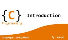 C Language Lesson 1: Introduction (Urdu/Hindi)