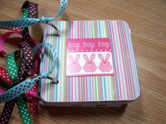 Springtime Premade Mini Scrapbook Album by HampshireRose on Etsy, $30.00