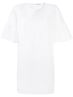 perforated wide sleeve dress