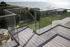 Glass Balustrade Glass Design and Build London Ltd Glass Balcony, Glass Garden, Frameless Glass Balustrade, Safety Glass, Flat Roof, Garden Design, Home Improvement, Exterior, Patio