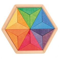 Wooden Star Puzzle made in Germany. $23.95