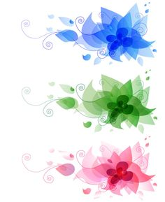 Abstract Flower Design Vector Free